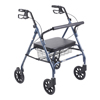 Drive Medical Heavy Duty Bariatric Walker Rollator with Large Padded Seat 10215BL-1