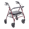 Drive Medical Heavy Duty Bariatric Walker Rollator with Large Padded Seat 10215RD-1