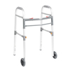 "Rehabilitation Devices & Parts: Drive Medical - Two Button Folding Universal Walker with 5"" Wheels"