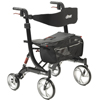 WIN17: Drive Medical - Nitro Euro Style Walker Rollator, Heavy Duty, Black
