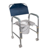 bedpans & commodes: Drive Medical - Lightweight Portable Shower Commode Chair with Casters