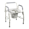 drive medical: Drive Medical - Steel Drop Arm Bedside Commode with Padded Seat and Arms
