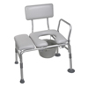 Rehabilitation: Drive Medical - Padded Seat Transfer Bench with Commode Opening