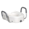 drive medical: Drive Medical - Premium Plastic Raised Toilet Seat with Lock and Padded Armrests, Elongated