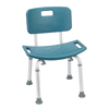 Drive Medical Teal Bathroom Safety Shower Tub Bench Chair w/Back 12202KDRT-1