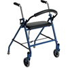 Walkers: Drive Medical - Two Wheeled Walker with Seat, Blue