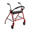 Walkers: Drive Medical - Two Wheeled Walker with Seat, Red