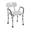 Rehabilitation: Drive Medical - Knock Down Bath Bench with Back and Padded Arms