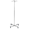 iv stand: Drive Medical - Economy Removable Top I. V. Pole, 2 Hook Top, Chrome
