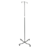 iv stand: Drive Medical - Economy Removable Top I. V. Pole, 4 Hook Top, Chrome