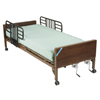 Beds & Bed Accessories: Drive Medical - Multi Height Manual Hospital Bed with Half Rails and Innerspring Mattress