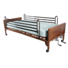 Beds & Bed Accessories: Drive Medical - Multi Height Manual Hospital Bed with Full Rails and Therapeutic Support Mattress