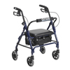 Drive Medical Junior Rollator with Padded Seat, Blue DRV 301PSBN