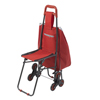 WIN17: Drive Medical - Deluxe Rolling Shopping Cart with Seat, Red