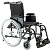 "Wheelchairs: Drive Medical - Cougar Ultra Lightweight Rehab Wheelchair, Swing away Footrests, 18"" Seat"