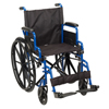 "Wheelchairs: Drive Medical - Blue Streak Wheelchair with Flip Back Desk Arms, Swing Away Footrests, 16"" Seat"