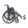 "Wheelchairs: Drive Medical - Blue Streak Wheelchair with Flip Back Desk Arms, Elevating Leg Rests, 20"" Seat"
