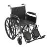 Drive Medical Chrome Sport Wheelchair CS16DFA-ELR