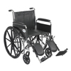 Drive Medical Chrome Sport Wheelchair CS20DFA-ELR