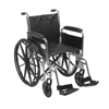 Drive Medical Chrome Sport Wheelchair CS20DFA-SF