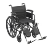 "Wheelchairs: Drive Medical - Cruiser X4 Lightweight Dual Axle Wheelchair with Adjustable Detachable Arms, Desk Arms, Elevating Leg Rests, 18"" Seat"