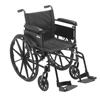 """Rehabilitation: Drive Medical - Cruiser X4 Lightweight Dual Axle Wheelchair with Adjustable Detachable Arms, Full Arms, Swing Away Footrests, 18"""" Seat"""