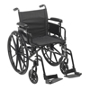 "Rehabilitation: Drive Medical - Cruiser X4 Lightweight Dual Axle Wheelchair with Adjustable Detachable Arms, Desk Arms, Swing Away Footrests, 20"" Seat"