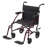 Drive Medical Fly Lite Ultra Lightweight Transport Wheelchair DFL19-RD