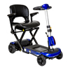 Power Mobility: Drive Medical - ZooMe Auto-Flex Folding Travel Scooter, Blue