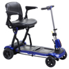 drive medical: Drive Medical - ZooMe Flex Ultra Compact Folding Travel 4 Wheel Scooter, Blue
