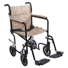 Drive Medical 17 Flyweight Lightweight Tan Plaid Transport Wheelchair FW17DB