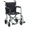 Drive Medical Flyweight Lightweight Transport Wheelchair FW17GR