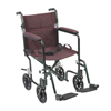 Drive Medical 19 Flyweight Lightweight Burgundy Transport Wheelchair FW19BG