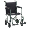 Drive Medical 19 Flyweight Lightweight Green Transport Wheelchair FW19GR