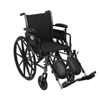 Drive Medical Cruiser III Light Weight Wheelchair with Flip Back Removable Arms K316ADDA-ELR