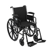 Drive Medical Cruiser III Light Weight Wheelchair with Flip Back Removable Arms K316ADDA-SF