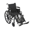 Drive Medical Cruiser III Light Weight Wheelchair with Flip Back Removable Arms K318DDA-ELR