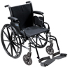 "Wheelchairs: Drive Medical - Cruiser III Light Weight Wheelchair with Flip Back Removable Arms, Desk Arms, Swing away Footrests, 20"" Seat"