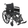 "Wheelchairs: Drive Medical - Cruiser III Light Weight Wheelchair with Flip Back Removable Arms, Full Arms, Elevating Leg Rests, 20"" Seat"