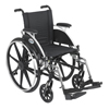 "Wheelchairs: Drive Medical - Viper Wheelchair with Flip Back Removable Arms, Desk Arms, Swing away Footrests, 14"" Seat"