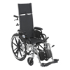 Drive Medical Viper Plus Lightweight Reclining Wheelchair w/Elevating Leg rest & Flip Back Detachable Desk Arms PL412RBDDA