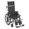 IV Supplies Extension Sets: Drive Medical - Viper Plus Lightweight Reclining Wheelchair w/Elevating Leg rest & Flip Back Detachable Desk Arms