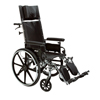 Drive Medical Viper Plus GT Full Reclining Wheelchair, Detachable Full Arms, 16 Seat DRV PLA416RBDFA