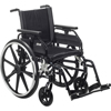 Drive Medical Viper Plus GT Wheelchair with Universal Armrests, Swing-Away Footrests, 18 Seat DRV PLA418FBUARAD-SF