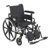 Drive Medical Viper Plus GT Wheelchair with Flip Back Removable Adjustable Arm PLA420FBFAARAD-ELR