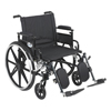 Drive Medical Viper Plus GT Wheelchair with Flip Back Removable Adjustable Arm PLA422FBDAAR-ELR