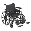 Drive Medical Viper Plus GT Wheelchair with Flip Back Removable Adjustable Arm PLA422FBFAAR-ELR