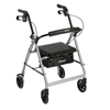 Drive Medical Walker Rollator with 6 Wheels, Fold Up Removable Back Support, and Padded Seat R726SL