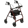 Drive Medical Aluminum Rollator with Fold Up and Removable Back Support and Padded Seat R728RD