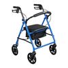 "rollers & rollators: Drive Medical - Steel Walker Rollator with 8"" Wheels, Blue"